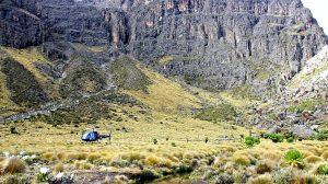 At the foot of the Mount Kenya