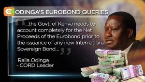 Ottobre 2016. Raila Odinga chiede al governo di spiegare come sono stati spesi più di 200 miliardi di scellini in Eurobond