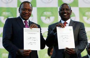 Uhuru Kenyatta e il suo vice William Ruto