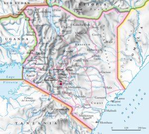 Kenya-Mappa fisica