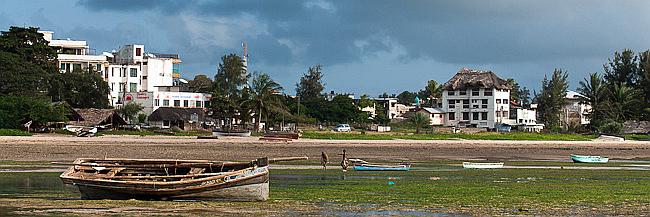Malindi-Vista quartiere Shella sulla Silversand Road