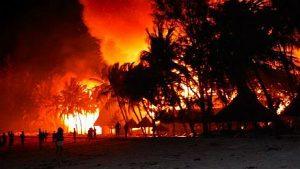 Watamu Beach Hotel-Incendio